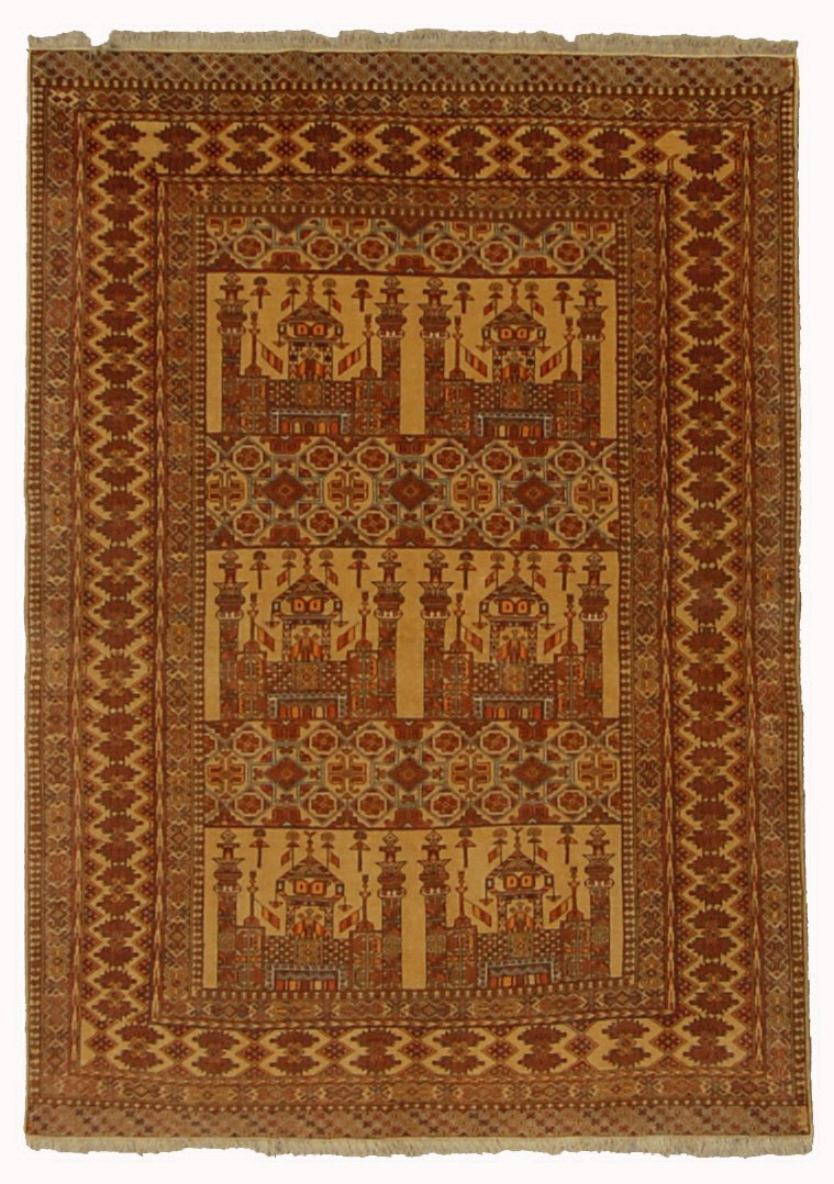AFGHAN TURKOMAN PRAYER RUG